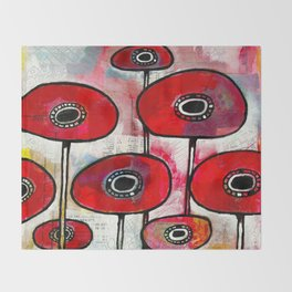 Poppies #4 Throw Blanket