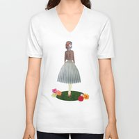oz V-neck T-shirts featuring Wizard of OZ twist  by Lydia Coventry