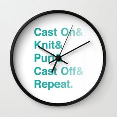 Knitting - Helvetica Ampersand Style Wall Clock
