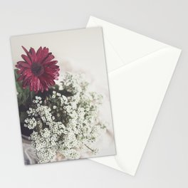Red Daisy Soft and Airy Square Stationery Cards