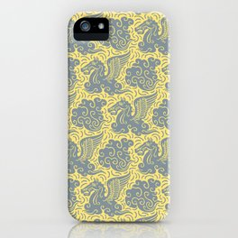 Pegasus Pattern Grey and Yellow iPhone Case