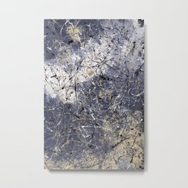 Orion - Jackson Pollock style abstract drip painting by Rasko Metal Print
