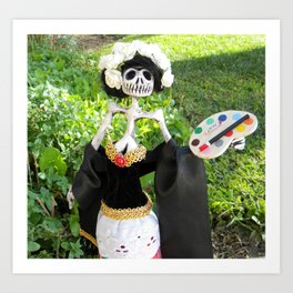 Day of the Dead: Frida la Pintora Art Print