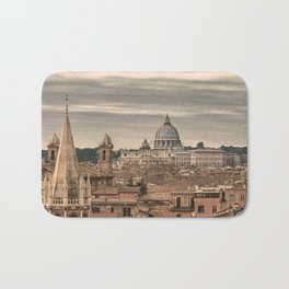 Rome Aerial View From Monte Pincio Terrace Bath Mat