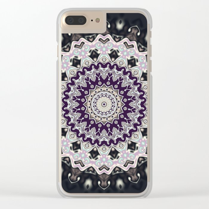 Black and white mandala (almost) Clear iPhone Case