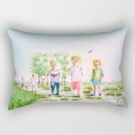 Kite in the Cornfield Rectangular Pillow
