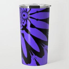 The Modern Flower Periwinkle & Black Travel Mug