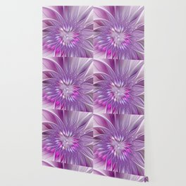 Pink Flower Passion, Abstract Fractal Art Wallpaper