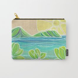 Naupakas in Paradise Surf Art by Lauren Tannehill Carry-All Pouch