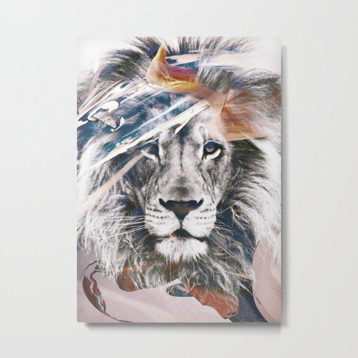 LION 6 Metal Print