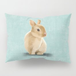 Portrait of a little bunny Pillow Sham