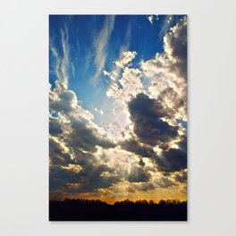 curious clouds Canvas Print
