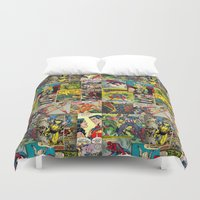 comic book Duvet Covers featuring COMIC by Vickn