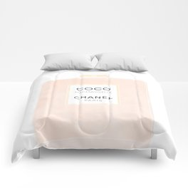 pink and gold perfume Comforters