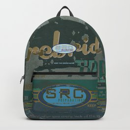 SRC Preparations Firebridge Tires Vintage Poster No1 Backpack