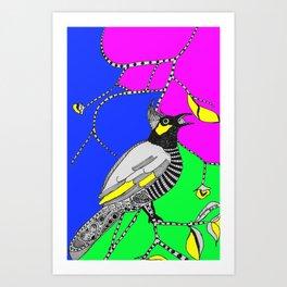 Bulbul Birdie (by Anjuri) Art Print