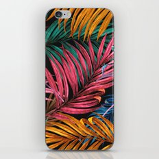 Colorful Palm Leaves iPhone Skin