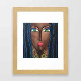 Beautiful Black Woman Framed Art Print