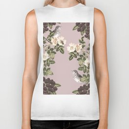 Birds and the Bees Pink Berry Biker Tank
