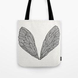Black Cicada Wings Tote Bag