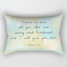 Matthew 11:28 Rectangular Pillow