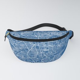 Caloocan City Map of the Philippines - Blueprint Fanny Pack
