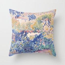 Garden at Saint-Clair Throw Pillow