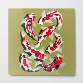 Koi Carp Zen Metal Print