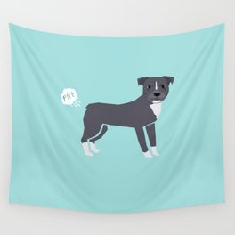 pitbull farting dog cute funny dog gifts pure breed dogs Wall Tapestry