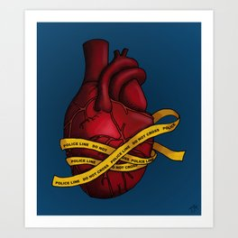 Heart of a Crime Scene Art Print