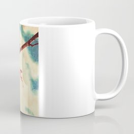 Autumn (Leafs in a textured and abstract sky) Coffee Mug