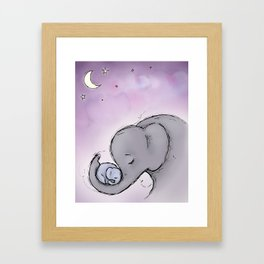 Goodnight Elephants Framed Art Print