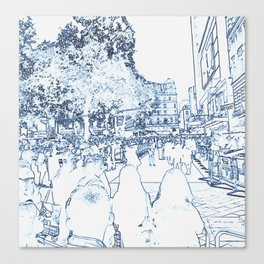 London Leicester Square Rolling the Red Carpet Canvas Print