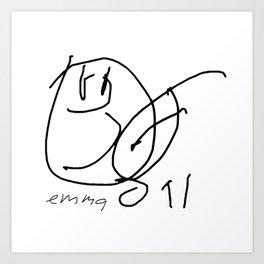 Hey Baby (signed) BW Art Print