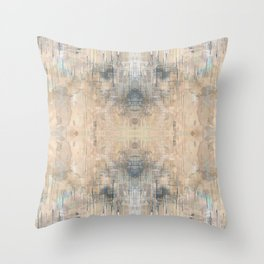 Glitch Vintage Rug Abstract Throw Pillow