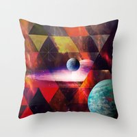 planet Throw Pillows featuring Planet by Tony Vazquez