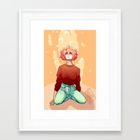 anxiety Framed Art Prints featuring anxiety  by ossizoe