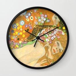 """Gustav Klimt """"Water Serpents"""" Wall Clock"""