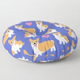 I Love Corgis Cute Pattern Floor Pillow