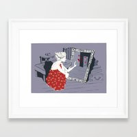 mirror Framed Art Prints featuring mirror by liva cabule