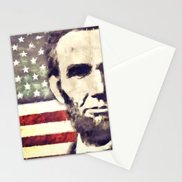 Patriot President Abraham Lincoln Stationery Cards