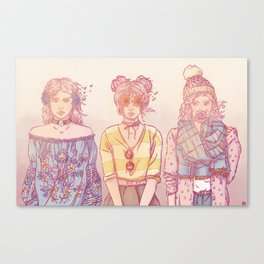 Three Wise Sisters Canvas Print