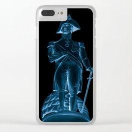 Nighttime Statue Clear iPhone Case