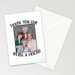 Thank you for being a friend Golden Girls Inspired Funny Stationery Cards