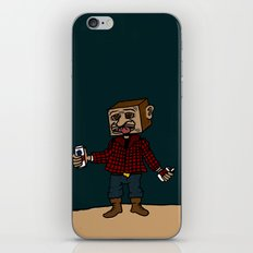 Mr Block, where does your paycheck go? iPhone & iPod Skin