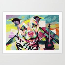 Rockstar Pup Art Print