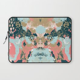 Eisley - Modern fresh abstract painting in bright colors perfect for trendy girls decor college Laptop Sleeve