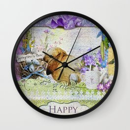 Easter Time Wall Clock