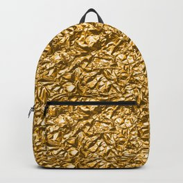 Golden noisy texture Backpack