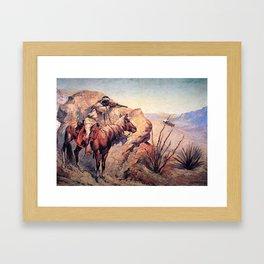 "Frederic Remington Western Art ""Apache Ambush"" Framed Art Print"